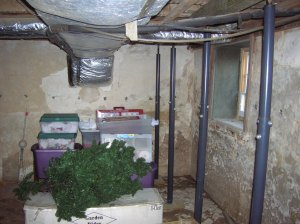 Basement before renovation - North side
