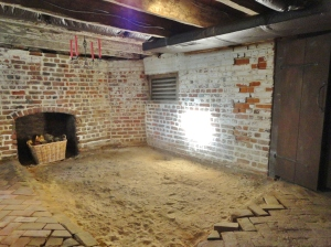 South basement before pit excavation